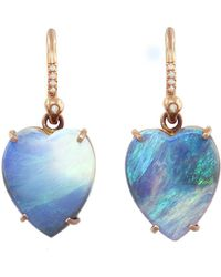 Irene Neuwirth - One-of-a-kind Opal Heart Drop Earrings - Lyst