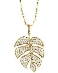 Sydney Evan | Monstera Leaf Necklace | Lyst