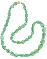 Sharon Khazzam - Emerald Bead Necklace - Lyst