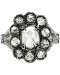Cathy Waterman - Unique Grey Moghul Diamond Lace Edge Ring - Lyst