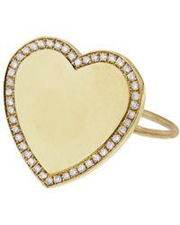 Jennifer Meyer - Diamond Border Heart Ring - Lyst