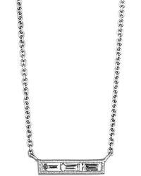 Sethi Couture - Baguette Trio Diamond Bar Necklace - Lyst