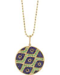 Sydney Evan | Pattern Evil Eye Disc Necklace | Lyst