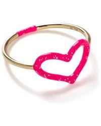 Jordan Askill - Pink Glitter Enamel Heart Ring - Lyst