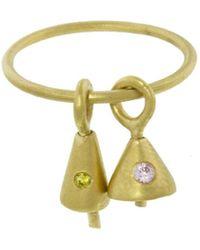 Ileana Makri - Pink And Yellow Zircon Bell Ring - Lyst