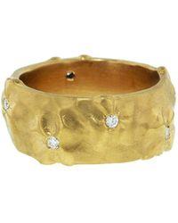 Cathy Waterman - Applique Wildflower Diamond Ring - Lyst