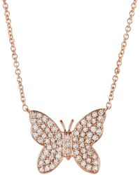 Sydney Evan - Diamond Butterfly Necklace - Lyst