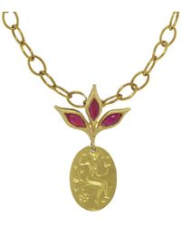 Cathy Waterman - Ruby Leaf Top Goddess Muse Charm - Lyst