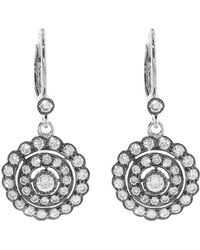 Sethi Couture - Scalloped Round Diamond Drop Earrings - Lyst