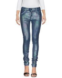 75 Faubourg - Denim Trousers - Lyst
