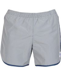 247be39269 Robinson Les Bains Board Dive Oxford Extra Long Swim Trunks in White ...