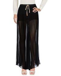 5b89a73119 Enza Costa Pleated Maxi Skirt in Metallic - Lyst
