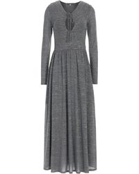 ALEXACHUNG - Long Dress - Lyst
