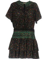 Vanessa Bruno | Flory Smocked Floral-print Plissé-crepe Mini Dress | Lyst