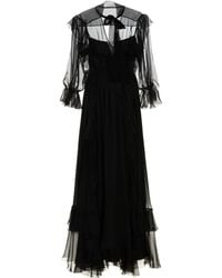 Alberta Ferretti - Long Dress - Lyst