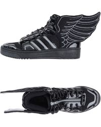 Jeremy Scott for adidas | Wing-Detailed High-Top Sneakers | Lyst