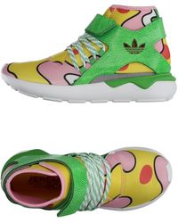 Jeremy Scott for adidas - JS Tubular Floral Mid Top Trainers - Lyst
