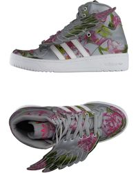 Jeremy Scott for adidas - Winged Floral High-Top Trainers - Lyst