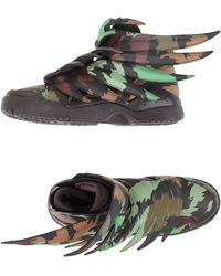 Jeremy Scott for adidas | Wings 3.0 Camo High-Top Sneakers | Lyst