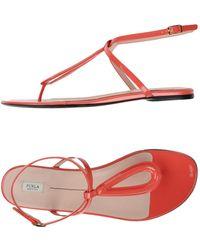 Furla - Toe Post Sandal - Lyst