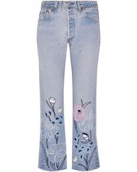 Bliss and Mischief - Denim Trousers - Lyst