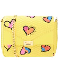Boutique Moschino - Heart Print Crossbody Leather Bag - Lyst