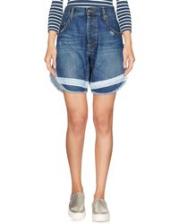 TRUE NYC - Denim Bermudas - Lyst
