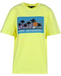 Alexander Wang - Appliquéd Cotton T-shirt Bright Yellow - Lyst