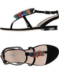 Brera Orologi - Toe Strap Sandals - Lyst