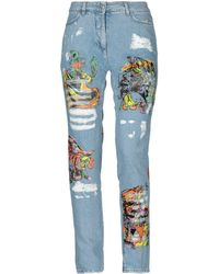 Jeremy Scott - Los Exitos Print Cotton Denim Jeans - Lyst