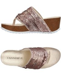 CafeNoir - Toe Post Sandal - Lyst