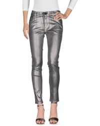 Pianurastudio Denim Pants - Metallic
