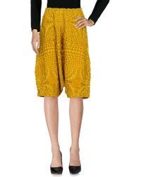 Issey Miyake Cauliflower - 3/4-length Shorts - Lyst