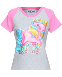 86390f8229 Moschino - Little Pony Printed Cotton Jersey T-shirt - Lyst