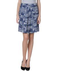 Stefanel - Knee Length Skirt - Lyst