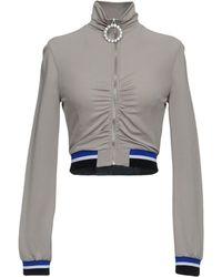 Alessandra Rich Sweatshirt - Grau