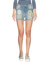 Met - Denim Shorts - Lyst
