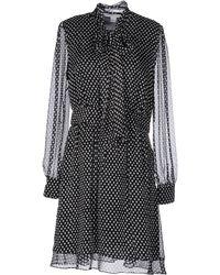 Diane von Furstenberg - Arabella Tie Neck Silk Dress - Lyst