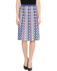 212 New York - Knee Length Skirt - Lyst