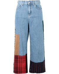 Au Jour Le Jour - Denim Trousers - Lyst