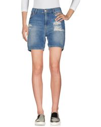 Twenty Easy By Kaos - Denim Bermudas - Lyst