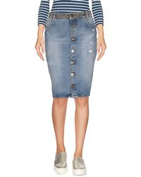 2W2M - Denim Skirt - Lyst