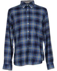 Gant Rugger - Trim Fit Melange Twill Plaid Long Sleeve Shirt - Lyst