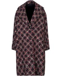 Emilio Pucci - Woman Floral-print Wool And Silk-blend Coat Black - Lyst