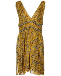 Étoile Isabel Marant - Balzan Gathered Printed Silk-georgette Mini Dress - Lyst