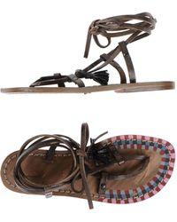 Exquisite J - Toe Strap Sandals - Lyst