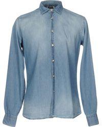 Aglini - Denim Shirt - Lyst