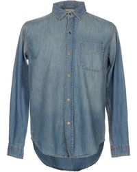 Current/Elliott - Denim Shirt - Lyst