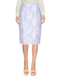 Paola Frani - Knee Length Skirts - Lyst