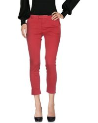 ..,merci Casual Trousers - Red